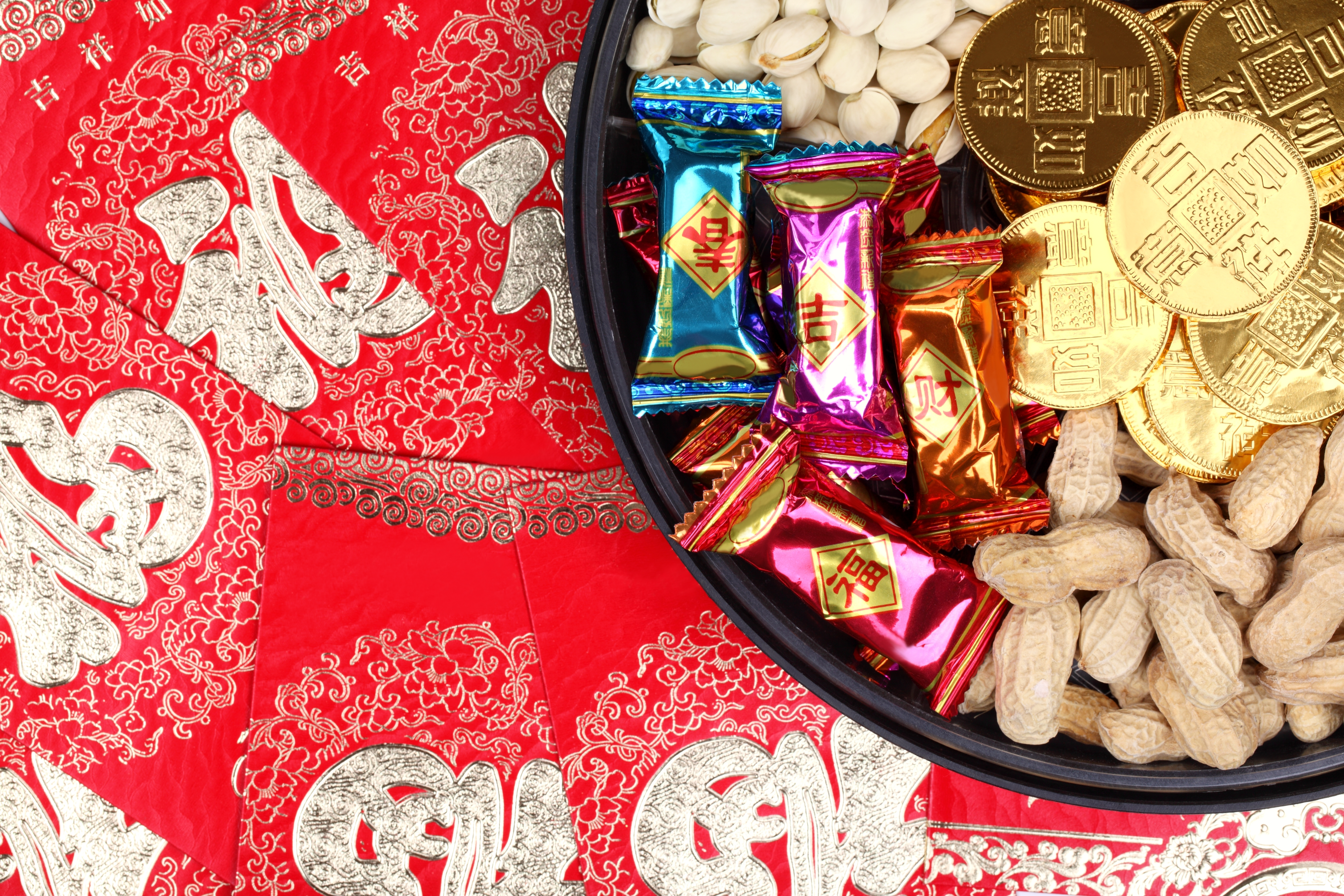 Chinese sweet box and envelope